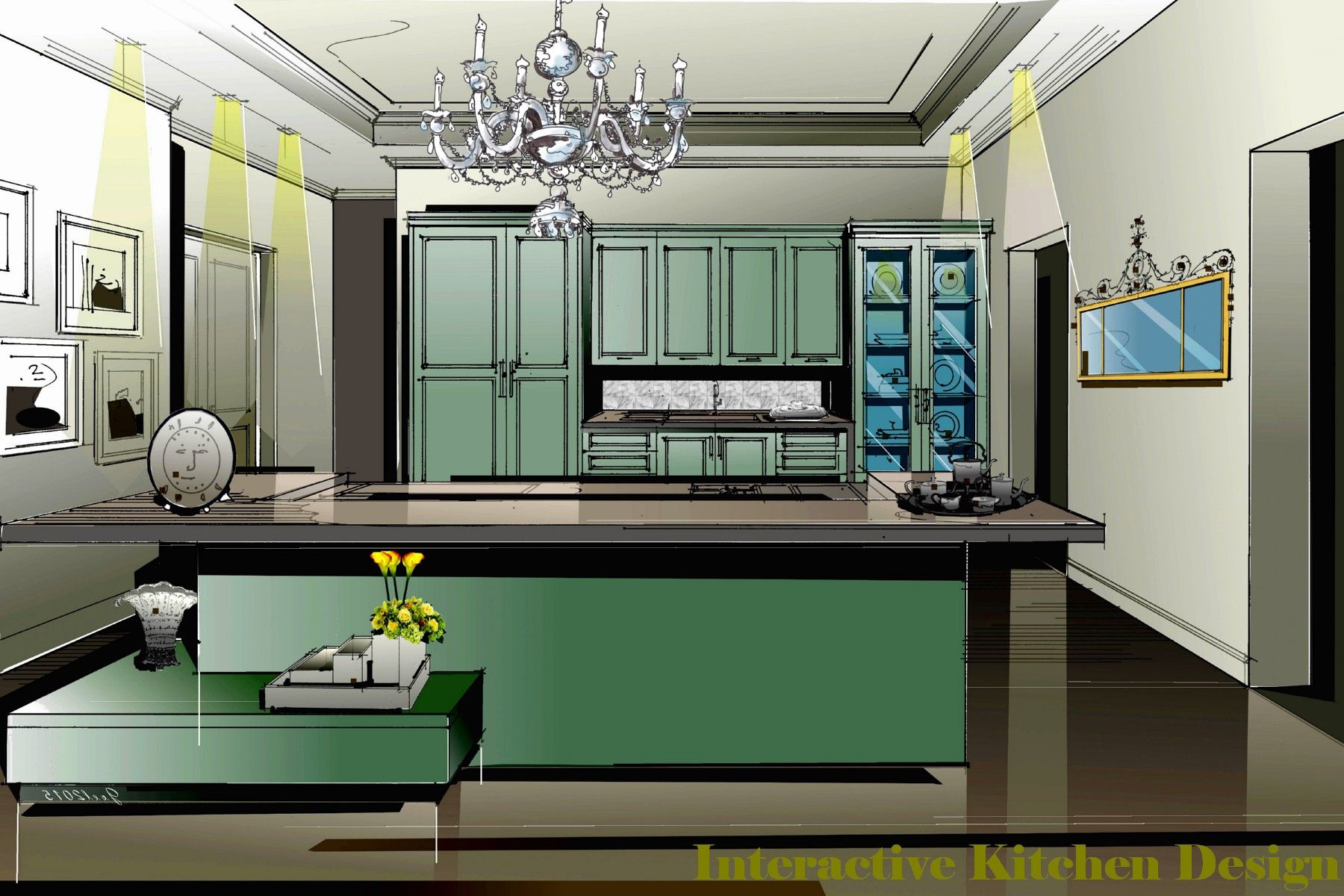 Cool Interactive Kitchen Design Bread Loaf Pans Pot Inserts Steamers Dinnerware Stemware Storage Serveware Kitchen Appliances Food Processors Baking Pastry Tool