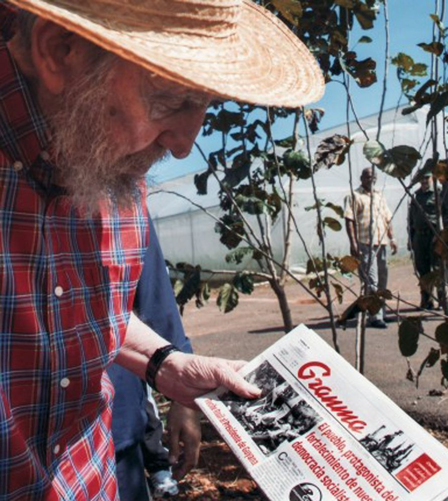 This picture released by Cubadebate on its website Monday Oct. 22, 2012 shows Cuban leader Fidel Castro holding a copy of Friday's Oct. 19, 2012 edition of the newspaper Granma in Habana, Cuba. (AP Photo/Alex Castro, Cubadebate) #cubanleader This picture released by Cubadebate on its website Monday Oct. 22, 2012 shows Cuban leader Fidel Castro holding a copy of Friday's Oct. 19, 2012 edition of the newspaper Granma in Habana, Cuba. (AP Photo/Alex Castro, Cubadebate) #cubanleader