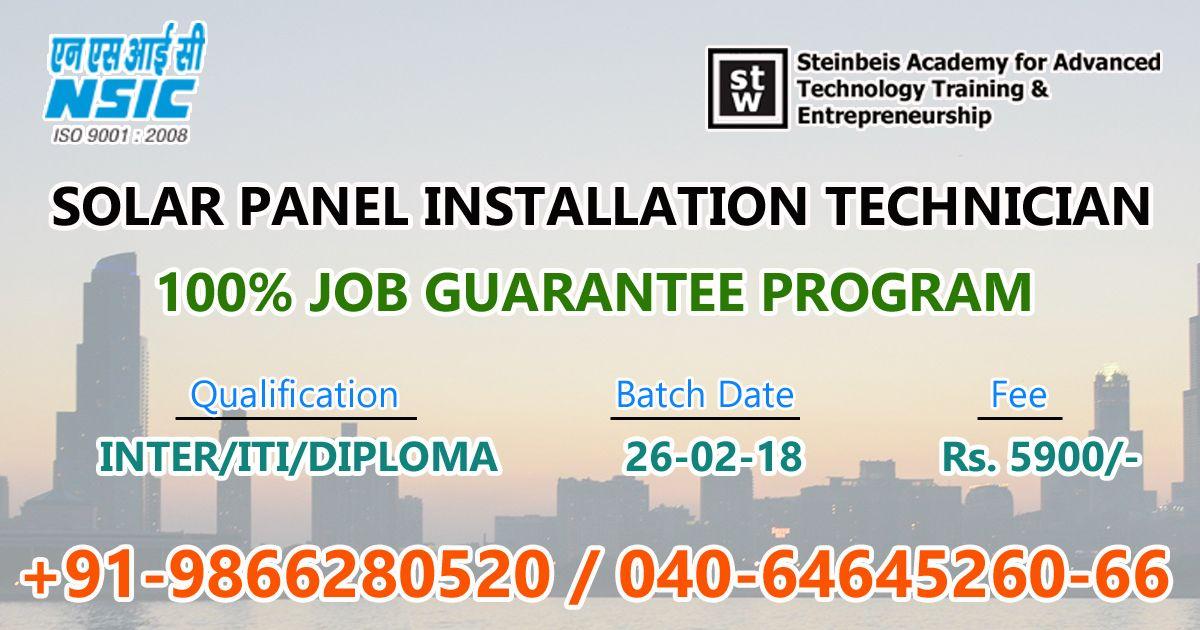 Solar Panel Installation Technician Training @ Hyderabad