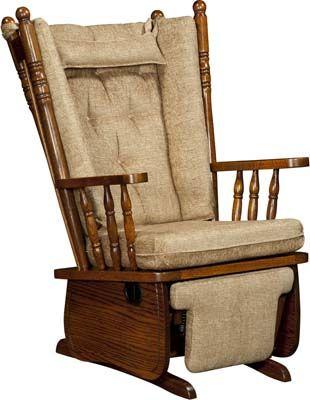 4 Post High Back Swivel Glider Glider Rocking Chair Glider