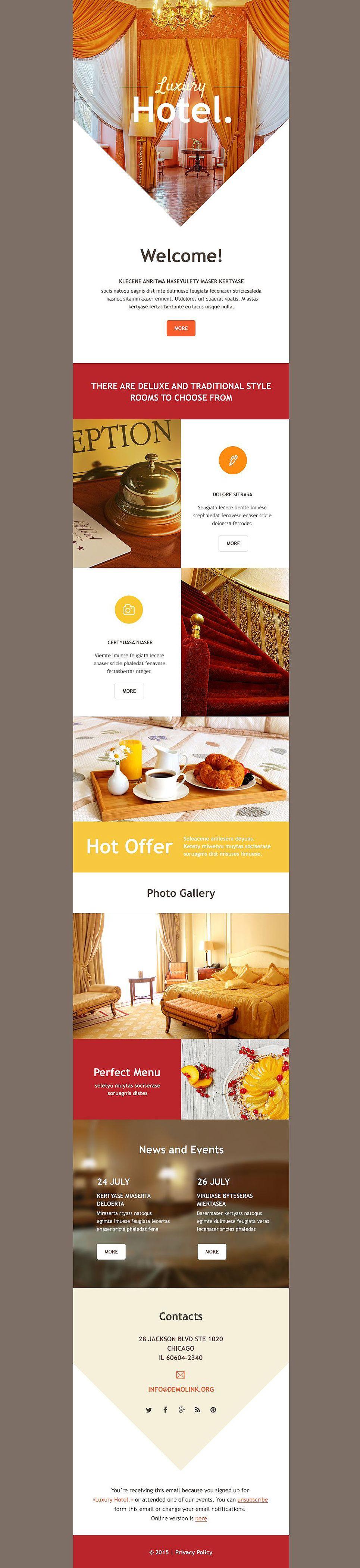 Hotels Responsive Newsletter Template | Newsletter templates