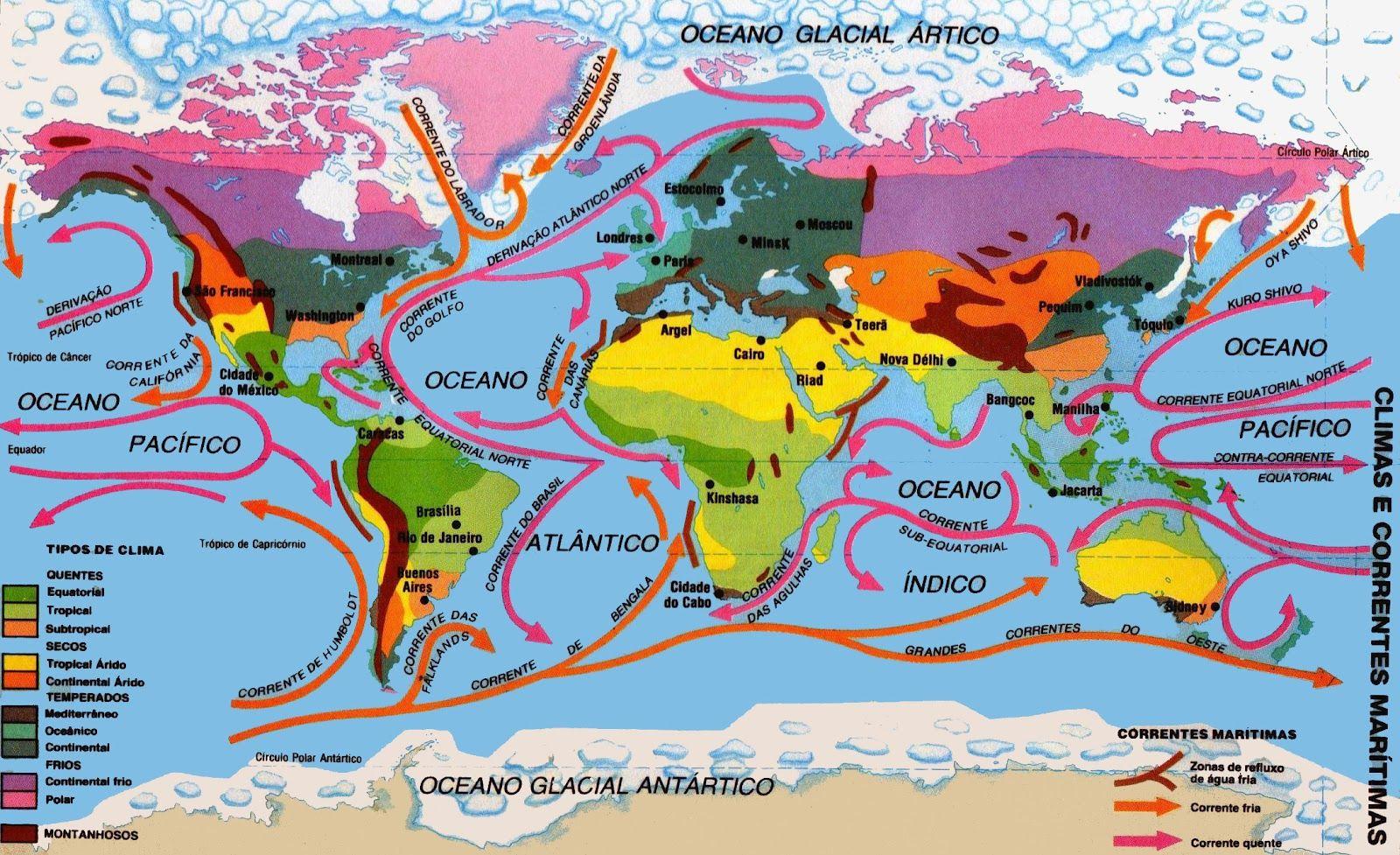 climas y corrientes