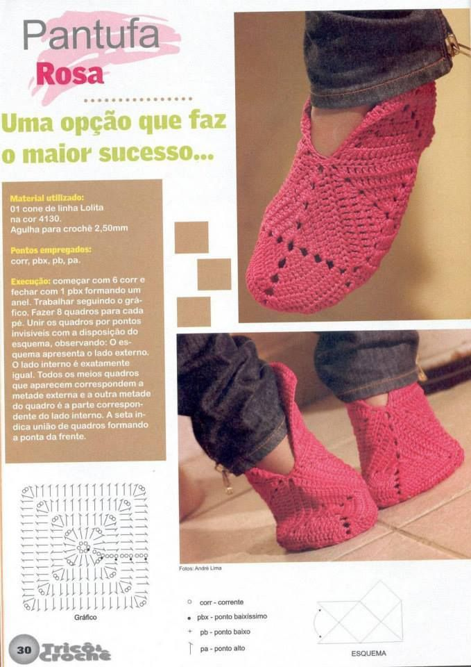 tricoter des chaussons au crochet