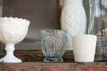 Clear Vintage Inspired Votive Holders 48