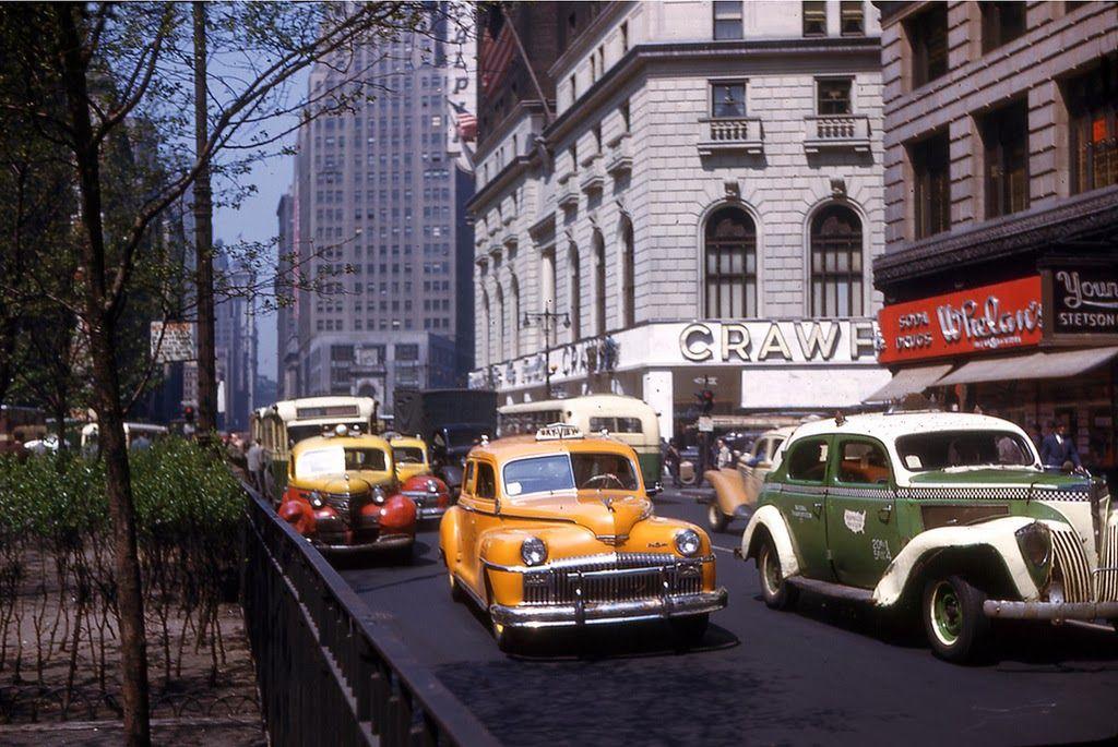 New York, 1946. Vintage new york, Photo, Street scenes