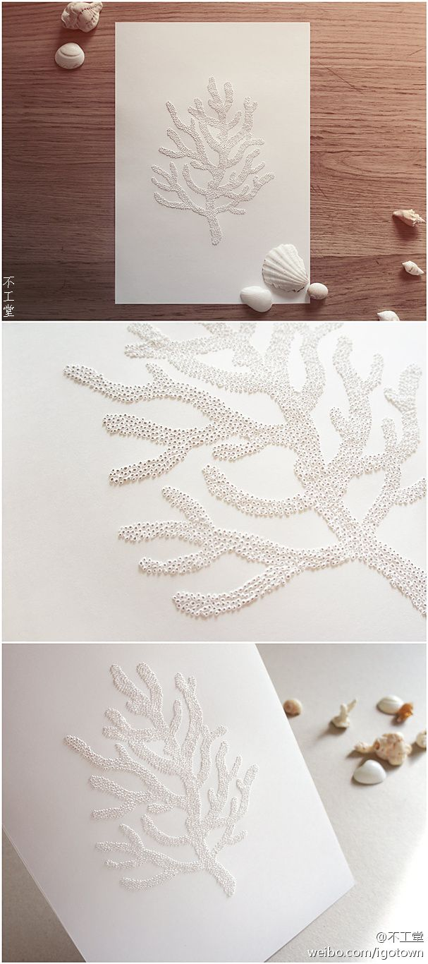DIY coral bead papers - making for a 35th coral anniversary gift ...