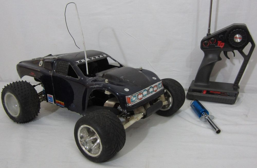 Vintage Traxxas R C Nitro Gas Powered Monster Truck Remote Control Car Works Traxxas Monster Trucks Remote Control Cars Traxxas