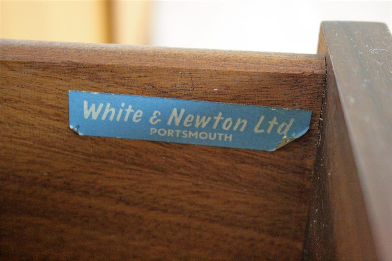 White Newton Mid Century Furniture Label Portsmouth Mid