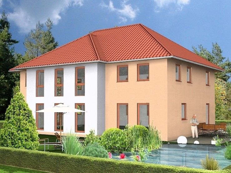 Hausbau modern walmdach  Bergen - #Einfamilienhaus von HOGAF Hausbau GmbH | HausXXL ...
