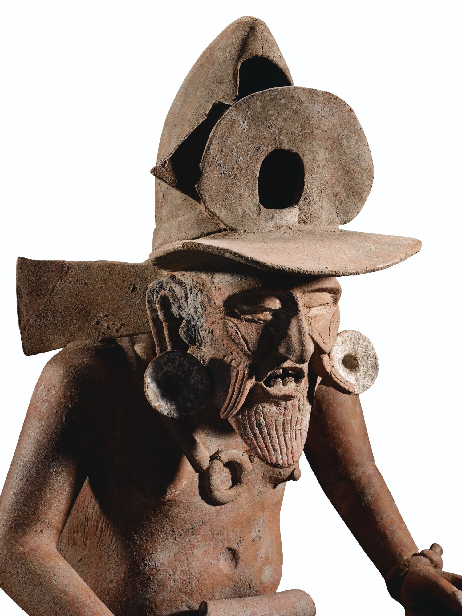 Statue de huehueteotl dieu du feu culture veracruz cÔte du golfe
