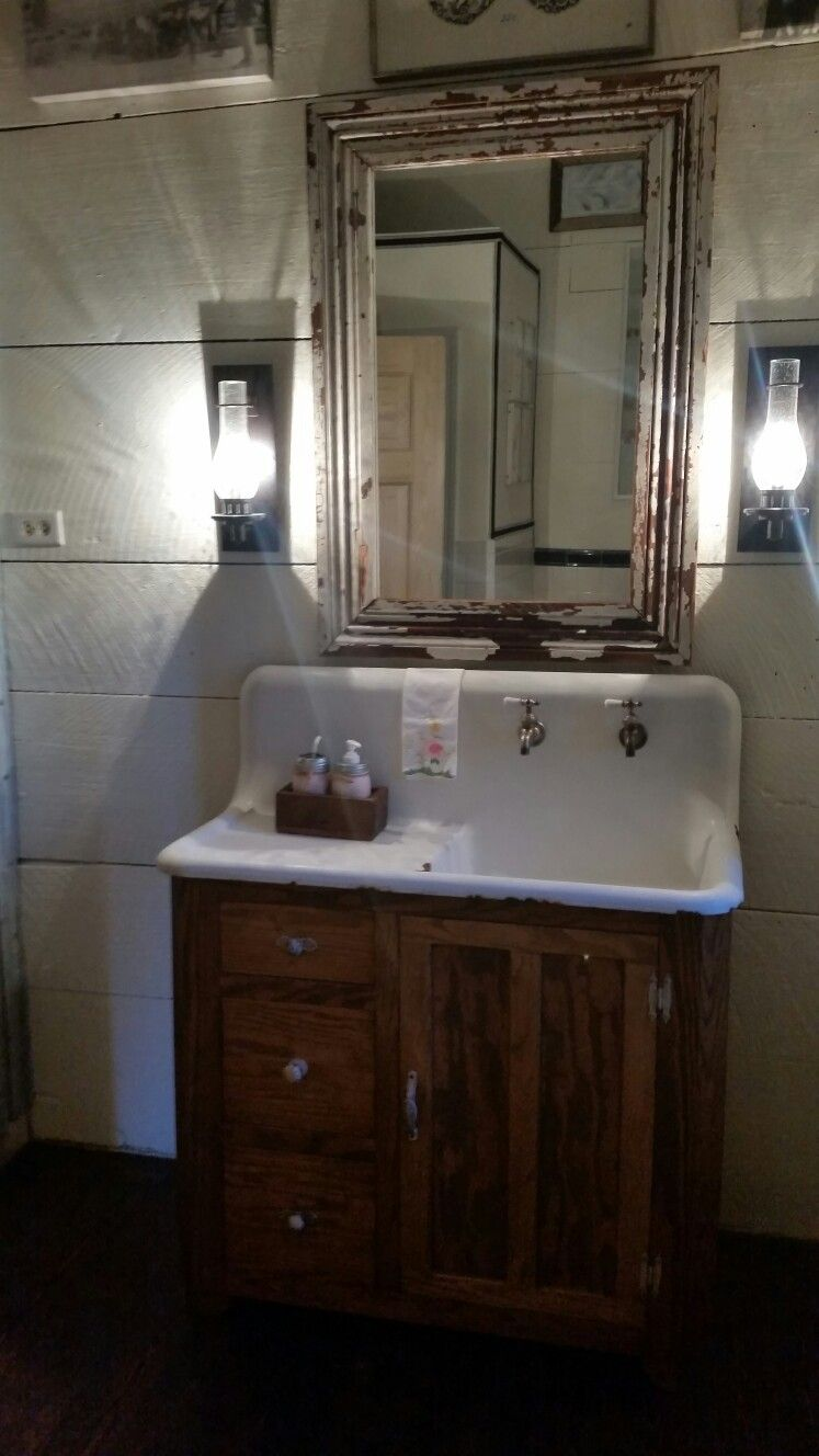 Beautiful Vintage Cast Iron Sink And Cabinet With Images