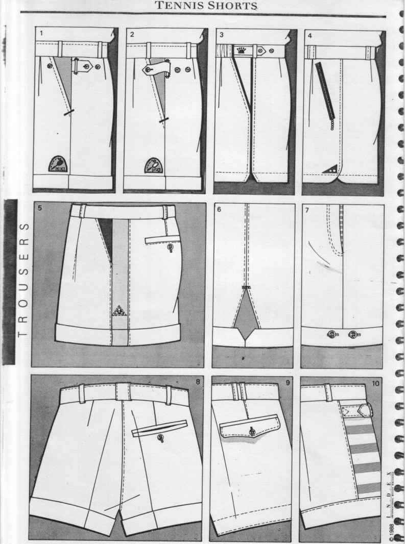 Flat Sketch Womens Trousers