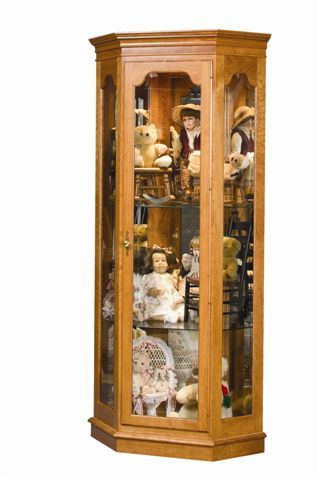 Amish Estate Corner Curio Cabinet | Cabinet plans, Display ...