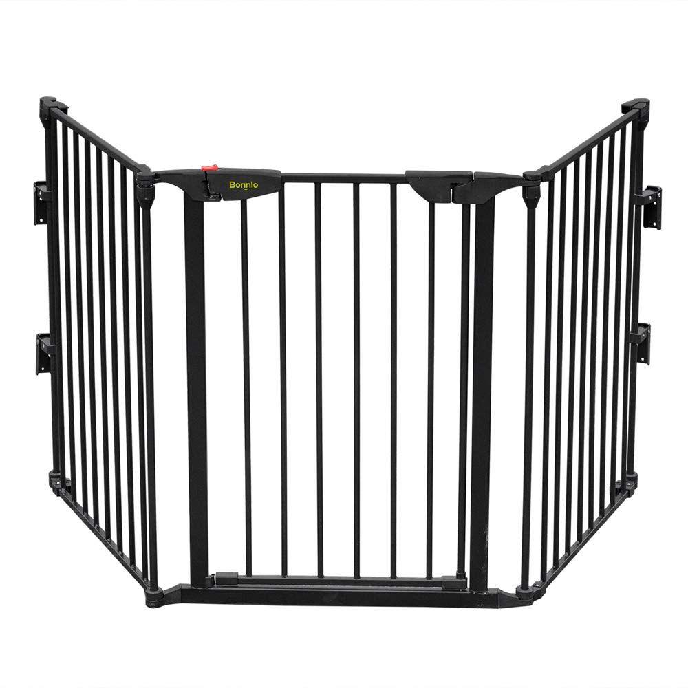 Bonnlo 73 Inch Configurable Walk Through Baby Safety Gate