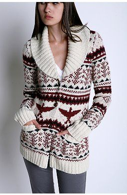 Fair Isle Shawl Collar Cardigan | Sweaters, Scarves, and Soups ...