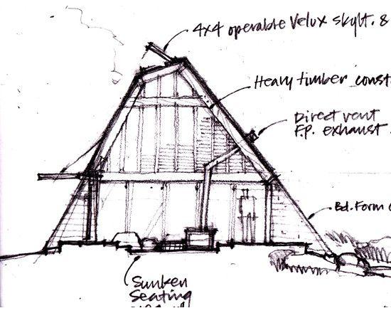 unique cabin house design planning in 3d overview. Black Bedroom Furniture Sets. Home Design Ideas