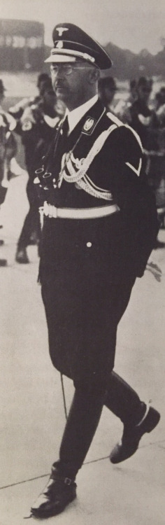 Reichsführer SS Heinrich Himmler.  Stunning uniform! Fancy boots! Looks dashing! (via helvihellstrom)