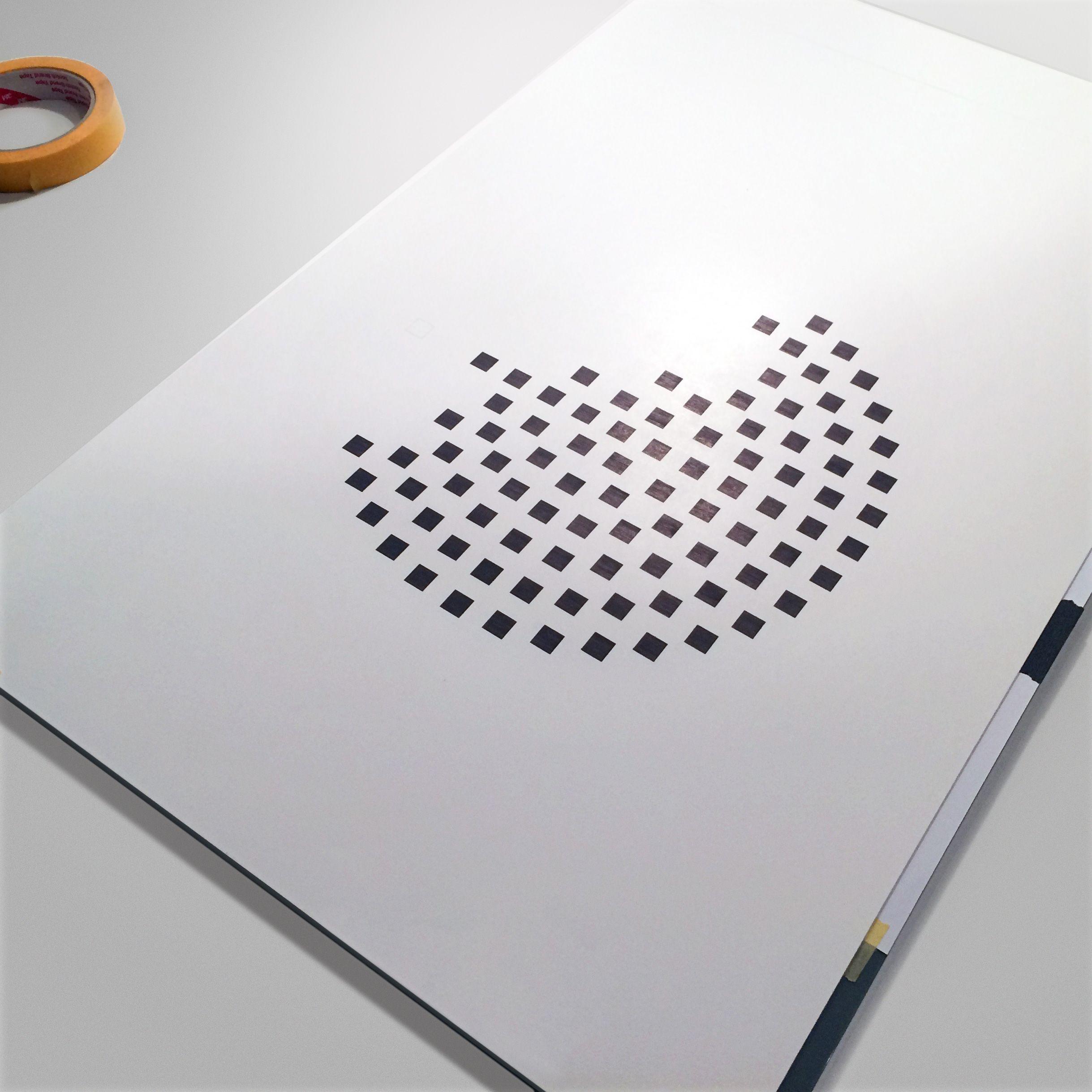Runde Null · work in progress · ink on paper · monochrome · process · minimal art
