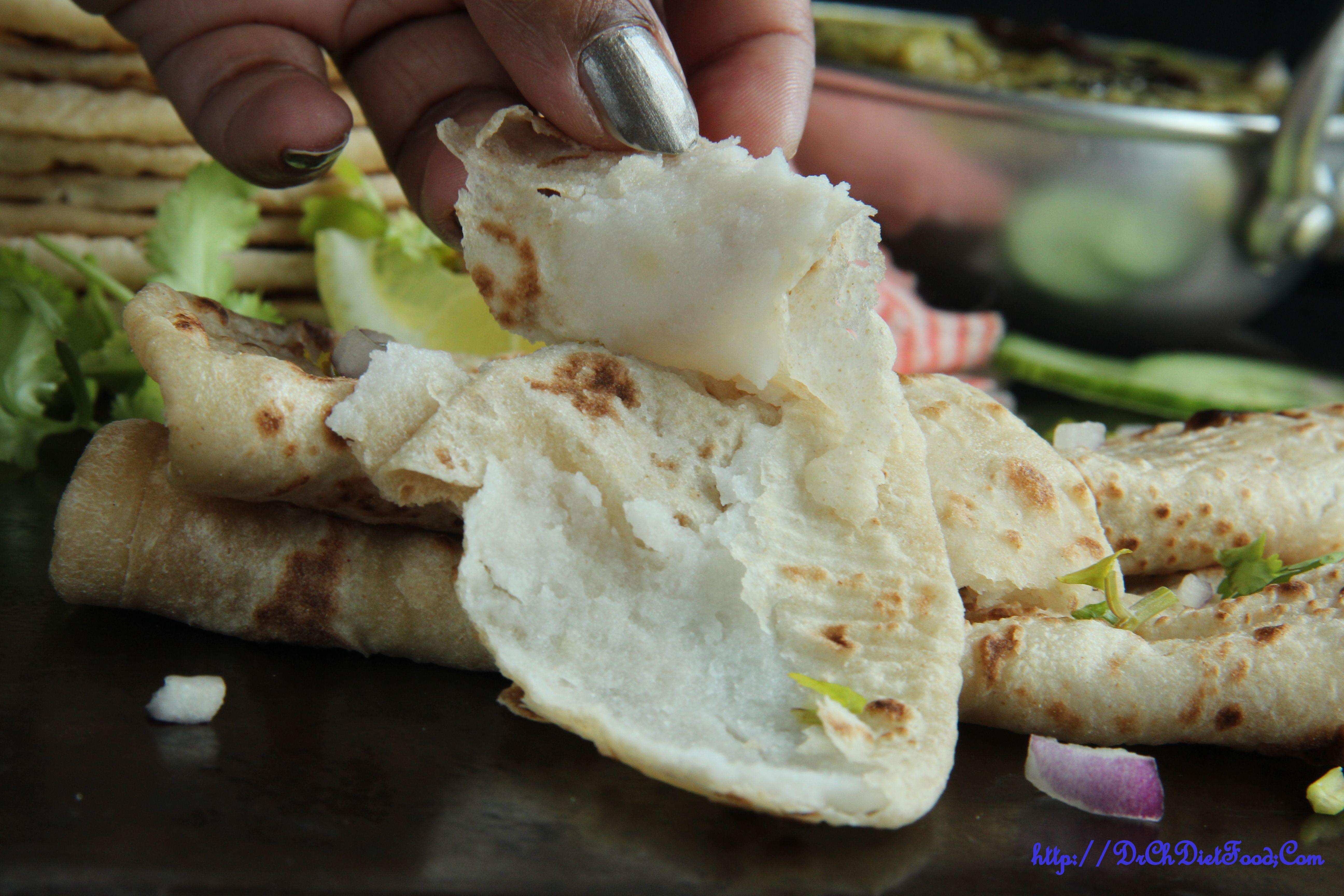 Rice flour dumpling stuffed chapathi (mit Bildern) Hering