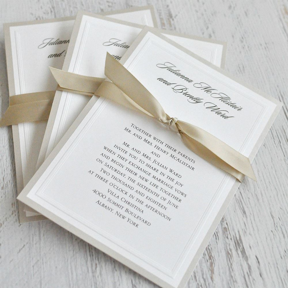Sophisticated Border Invitation Make Your Own Wedding Invitations Wedding Invitation Trends Wedding Invitations Diy