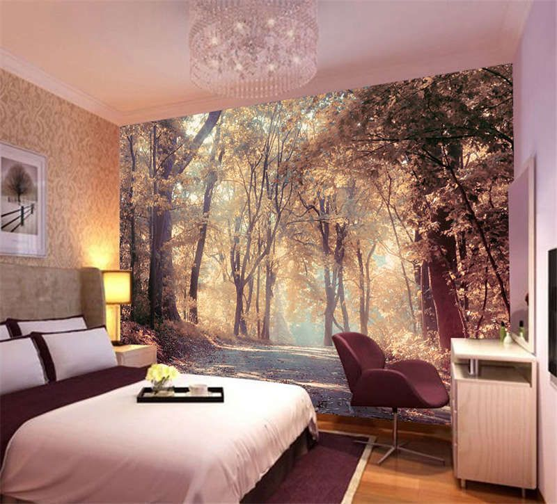Colorful Autumn Scenery Full Wall Mural Photo Wallpaper Print Kids Home 3d Decal Photo Wallpaper Bedroom Wall Murals Bedroom Fall Bedroom Decor