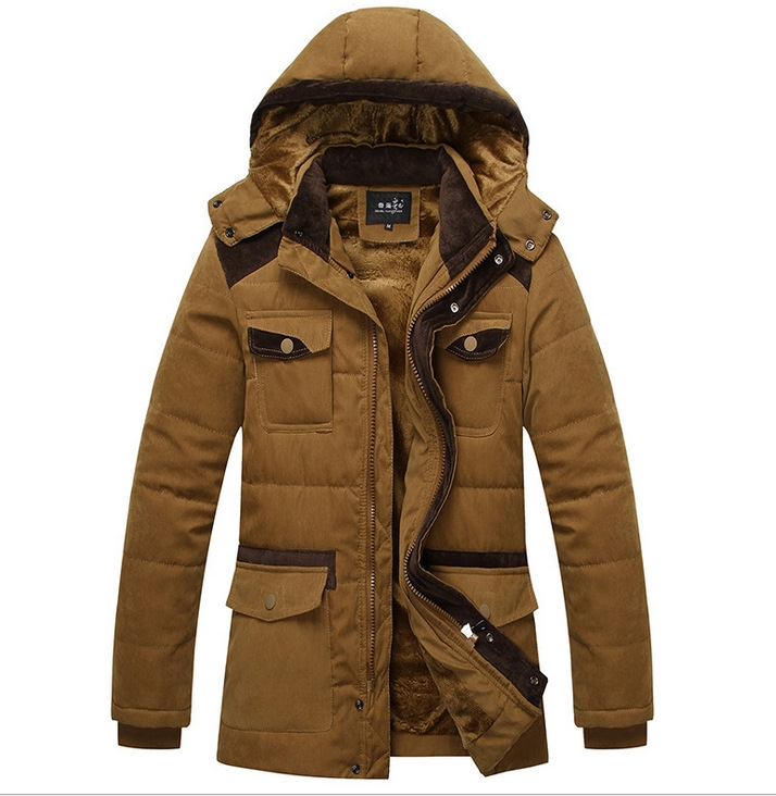 64.07$  Watch now - http://alis42.worldwells.pw/go.php?t=32751666774 - High Quality Casual Winter Jacket Men Cotton-Padded Jacket Brand Thickening Fashion Warm Down Coat Thick Hooded Windproof Parkas