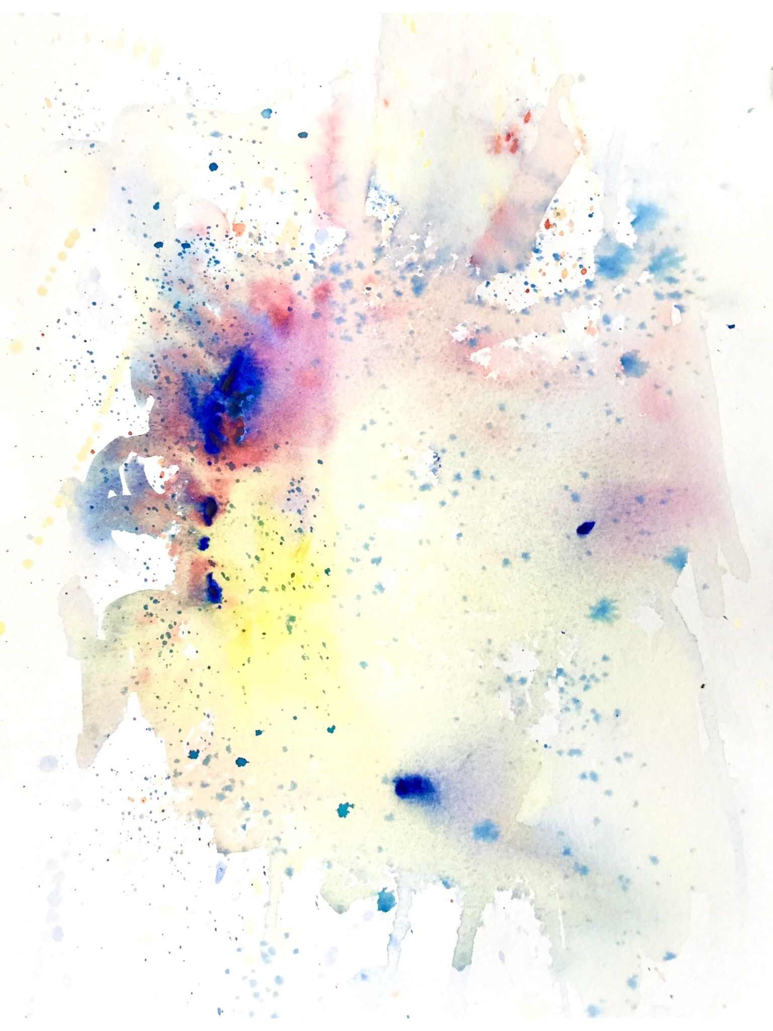 Crossover Abstract Watercolor Abstract Paper Artwork