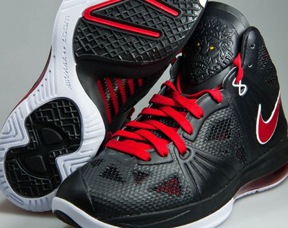Nike LeBron 8 P.S. - Black - Sport Red - White  7a215320b
