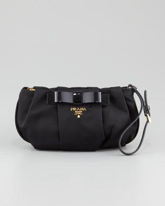 8f3b0a653fb3 Prada Tesutto Bow Wristlet Bag, Black | Bags/Bosses | Estilo urbano ...
