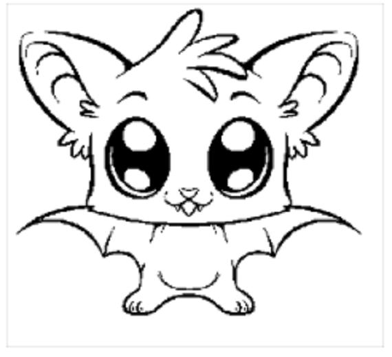 Cute Bat Written Crochet Graph By Muttix Craftsy Ausmalbilder Kawaii Zeichnungen Niedliche Zeichnungen