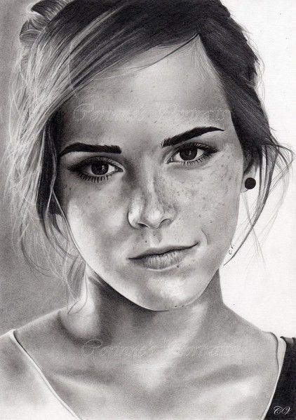 Pencil Artist Corinne's Portraits (French) | Emma Watson by Corinne | http://corinnevuillemin.jimdo.com/galeries/portraits-2013/