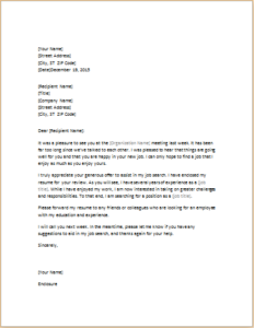 Letter Requesting Help With Job Search Download At HttpWww