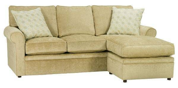 Kyle Apartment Size Rolled Arm Sectional Sofa With