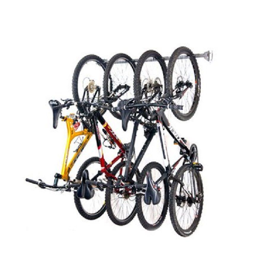Monkey Bar 4 Bike Silver Steel Bike Rack Bike Storage Bike Storage Rack Wall Mount Bike Rack