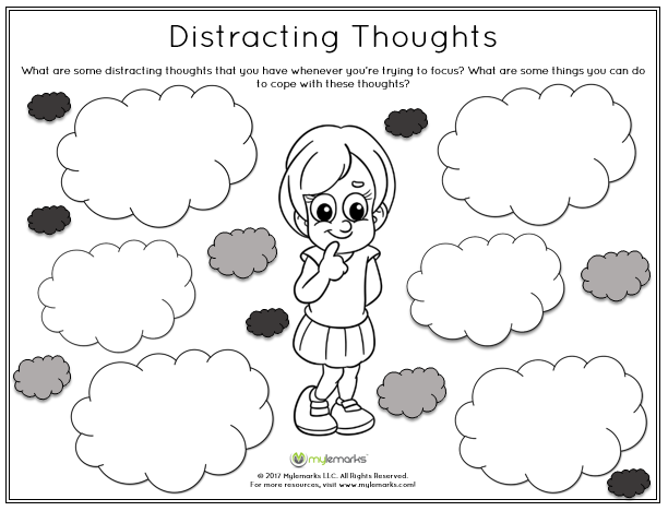 Help kids identify distracting thoughts that they often