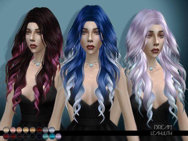 Dream hair by LeahLilith at TSR via Sims 4 Updates