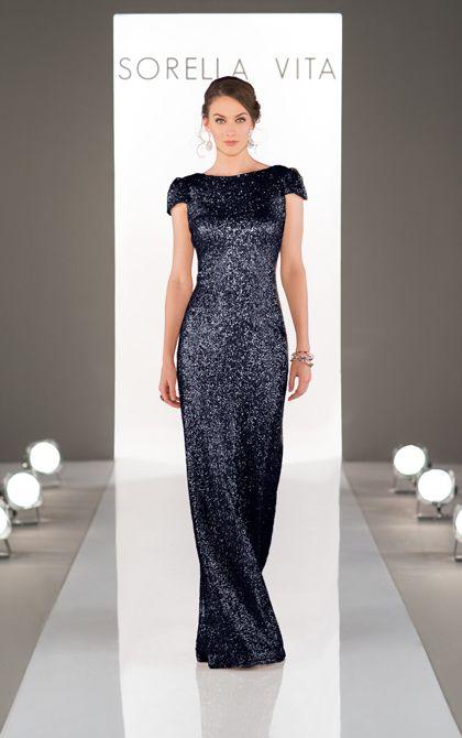34dd7fbc Sorella Vita Designer Series Bridesmaid Dress: Modern Metallic; Featuring a  boatneck design that highlights an elegant and classy cowl back, ...