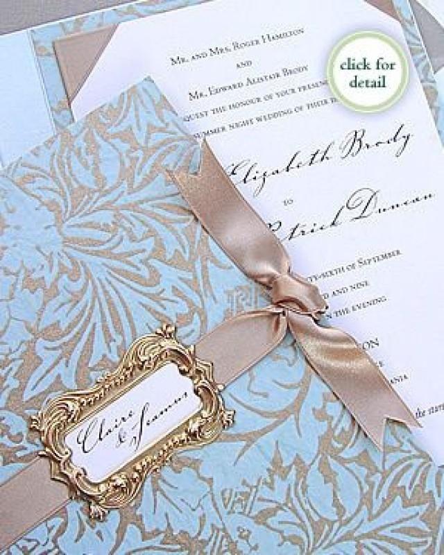 Farbkombi: Blau & Taupe | invitation | Pinterest | Baroque wedding ...