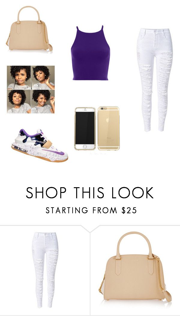 """""""Peanut Butter Jelly Time"""" by kimbraiabrown ❤ liked on Polyvore featuring NIKE and Nina Ricci"""