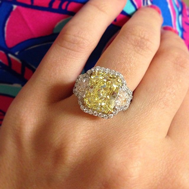 yellow diamond ring … | Pinteres…