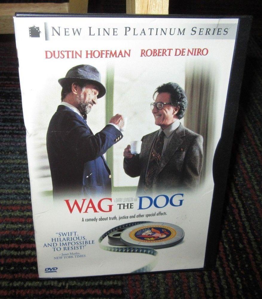 WAG THE DOG DVD MOVIE, DUSTIN HOFFMAN, ROBERT DE NIRO