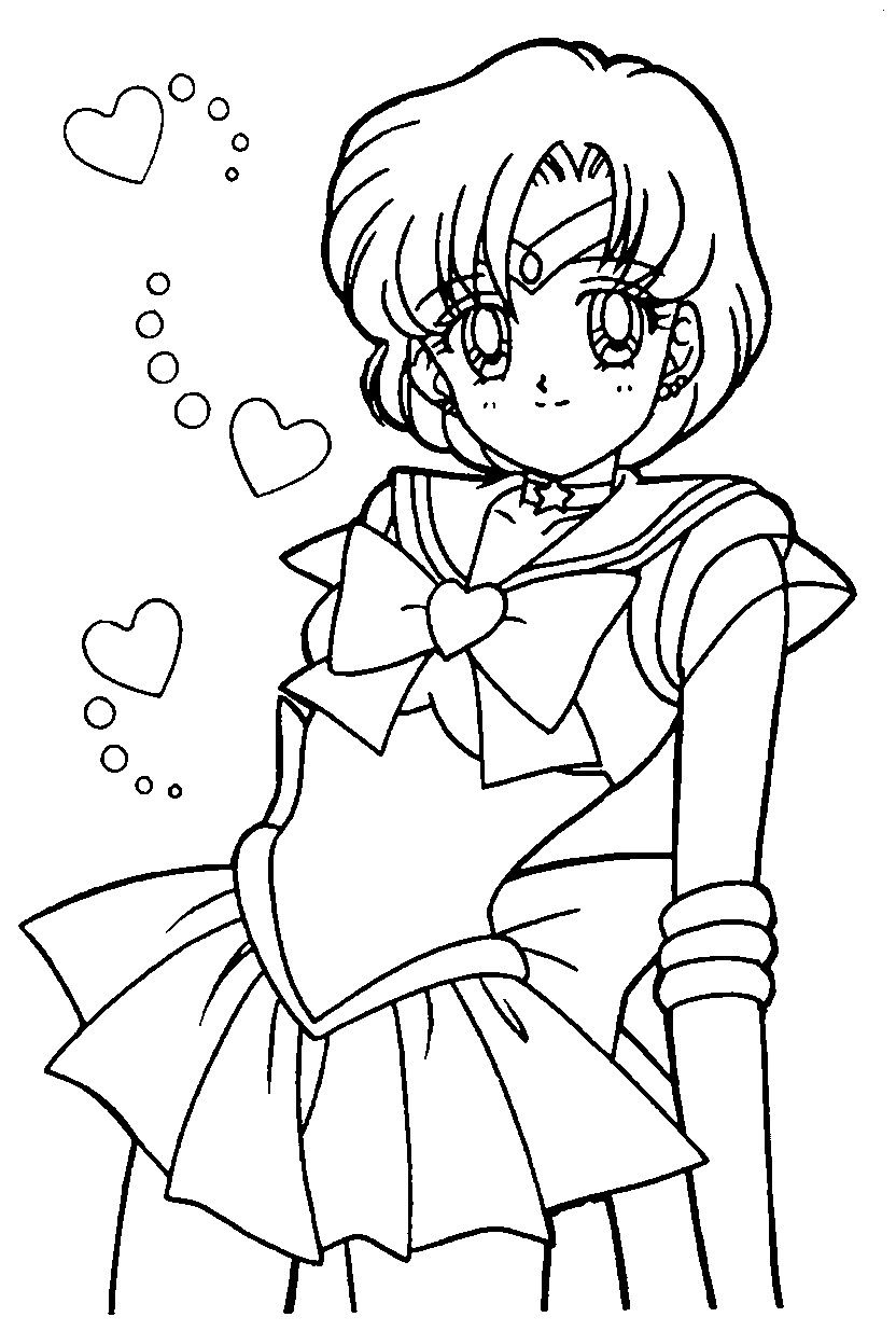 Sailor moon coloring pages mercury | Sailor Moon birthday ...