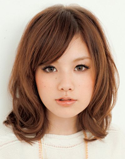Asian Short Hairstyles For Round Faces Hair Pinterest Hair