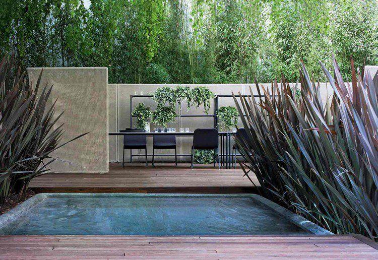 brise vue r tractable ajour table rectangulaire chaises design piscine ext rieure et. Black Bedroom Furniture Sets. Home Design Ideas