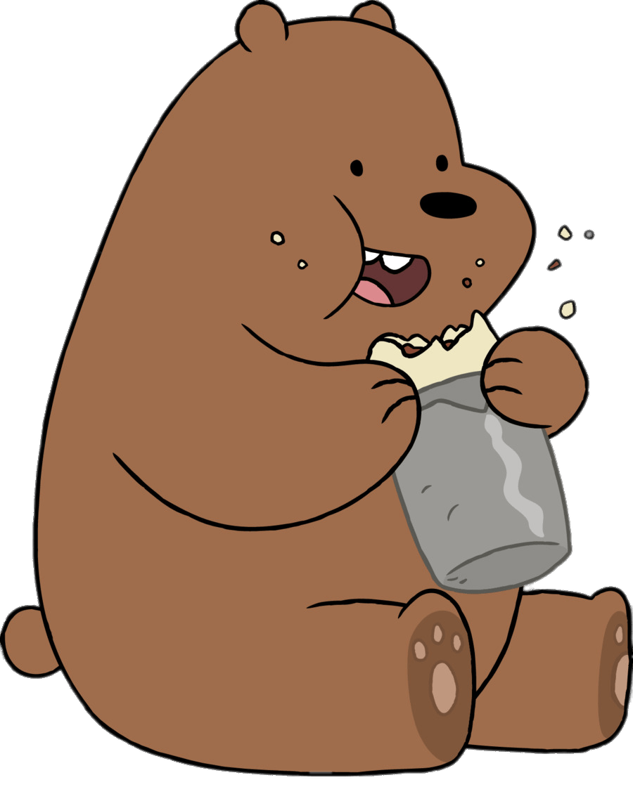 Grizzly Bear Eating transparent PNG - StickPNG