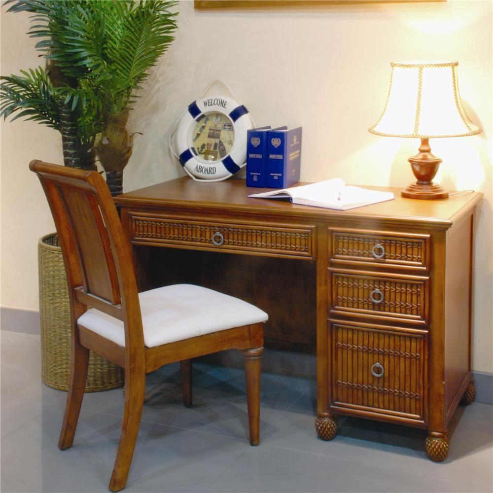 Georgetown Single Pedestal Computer Desk By Pelican Reef   Baeru0027s Furniture    Single Pedestal Desk Miami