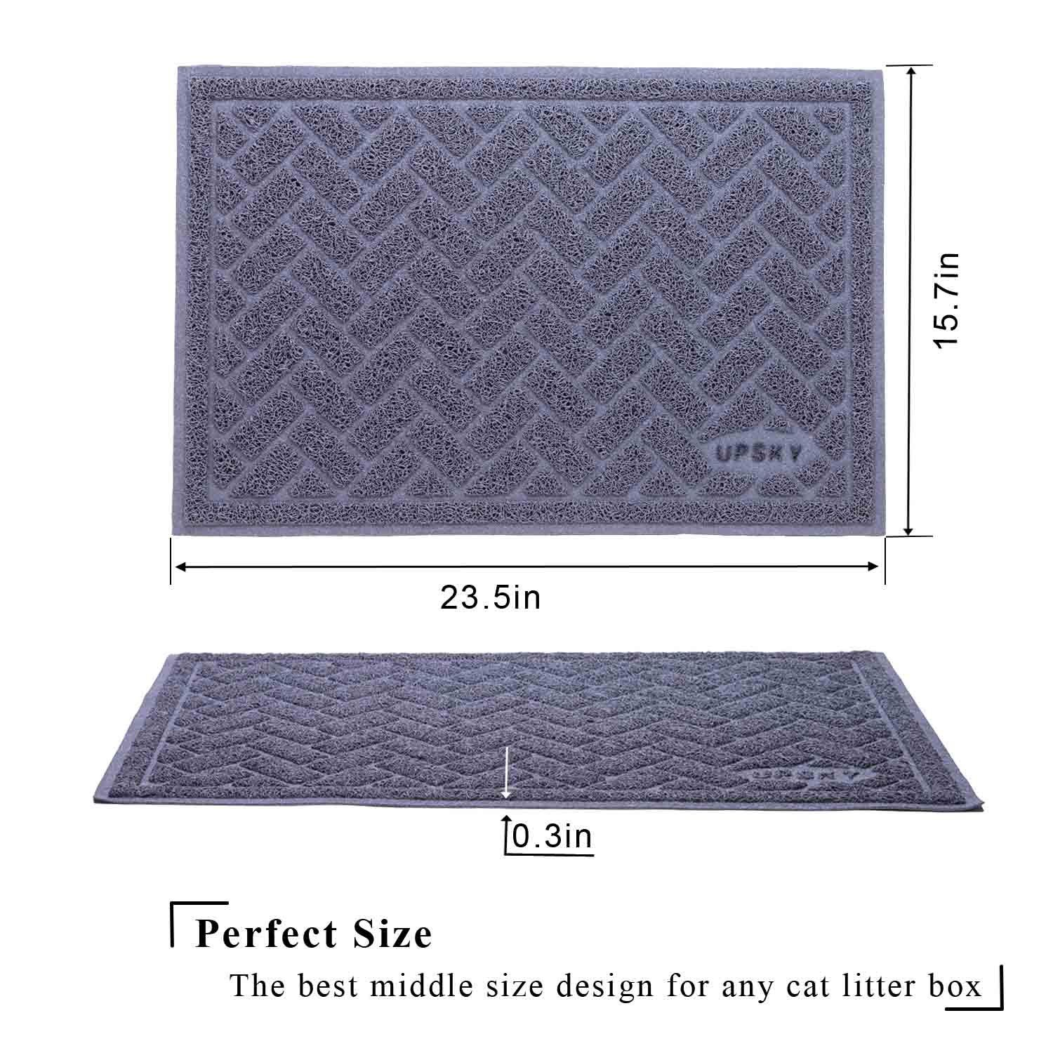 Premium Cat Litter Mat Trapper Traps Litter From Box And Paws Scatter Control For Litter Box Soft On Sensitive Kitty Paws Easy To Clean D Litter Box Cat Litter Mat Cat