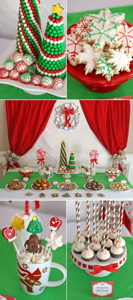 34 mesa dulce de navidad estilos de mesas de dulces for Decoracion christmas navidenos