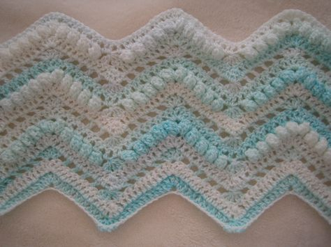Stunning Popcorn Ripple Crochet Afghan Free Pattern Yarns And