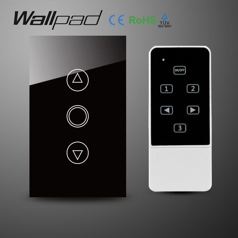 Universe Of Goods Buy Wallpad 118 Us Au Standard Crystal Glass Black Wifi Dimmer Switch Wireless Remote Control W Remote Control Light Remote Control Remote
